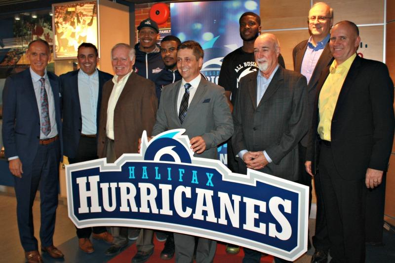 Инвесторы и часть команды на первой пресс-конференции в Галифаксе, Halifax Hurricanes 2016-17 Season