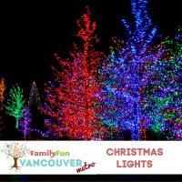 Lumières de Noël dans la région métropolitaine de Vancouver