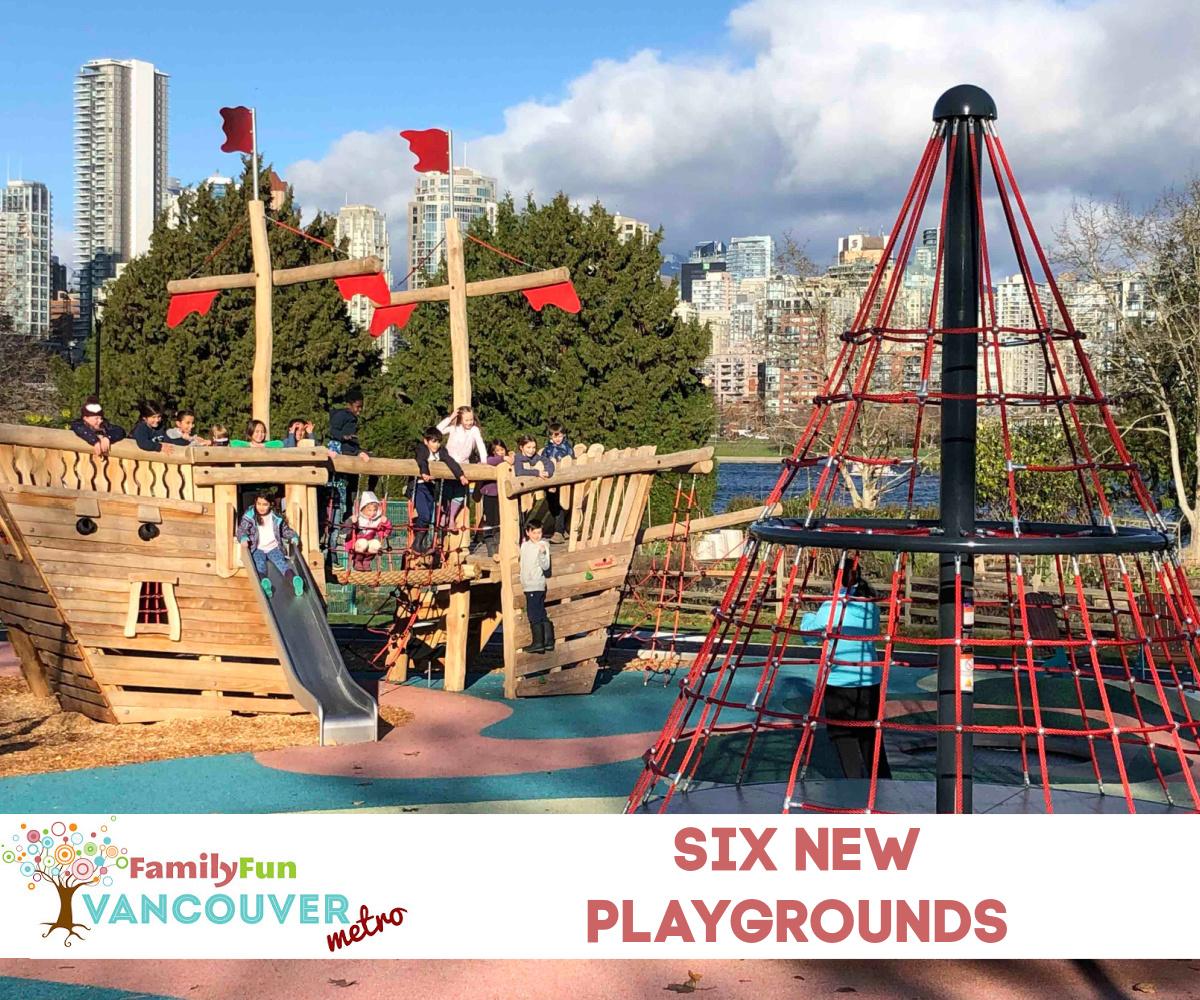 SIX 밴쿠버 공원의 새로운 놀이터